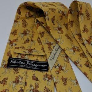 Salvatore Ferragamo silk tie - made in Italy